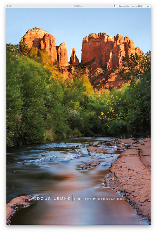 Cathedral Rock in late afternoon light, Sedona Arizona, USA