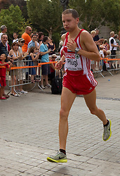 Christian Pflugel of Austria competes in the Mens Marathon during day six of the 20th European Athletics Championships at the roads of city Barcelona on August 1, 2010 in Barcelona, Spain. (Photo by Vid Ponikvar / Sportida)