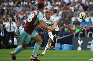 Harry Kane of Tottenham Hotspur takes a free kick.  Premier league match, Tottenham Hotspur v Burnley at Wembley Stadium in London on Sunday 27th August 2017.<br /> pic by Steffan Bowen, Andrew Orchard sports photography.