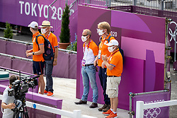 Leendert Jan Hofland, Heffernan Andrew, Boulhouwers Iris, NED<br /> Olympic Games Tokyo 2021<br /> © Hippo Foto - Dirk Caremans<br /> 31/07/2021