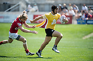 University of Utah takes on Arizona State University at Red Bull Uni 7s Rugby Qualifiers at Infinity Park in Glendale, CO, USA, on 25 August, 2016.