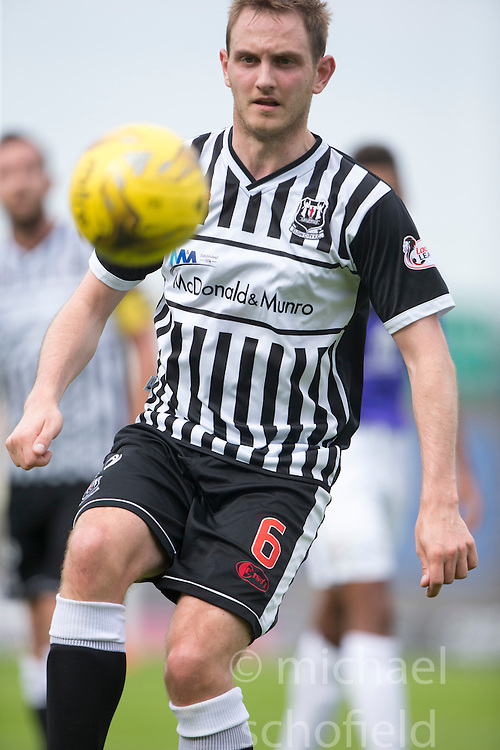Elgin City's Mark Nicolson. <br /> East Fife 2 v 1 Elgin City, Ladbrokes Scottish Football League Division Two game played 22/8/2015 at East Fife's home ground, Bayview Stadium.