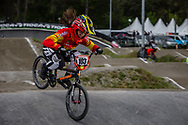 #103 (GARCIA RECUERO Veronica) ESP during round 3 of the 2017 UCI BMX  Supercross World Cup in Zolder, Belgium,