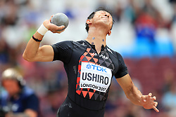 Japan's Keisuke Ushiro competes in the Men's Decathlon Shot Put during day eight of the 2017 IAAF World Championships at the London Stadium