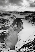 The magnificent Gulfoss waterfall in West-Central Iceland