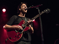 Michael Spieler of German indie-pop band Kytes supporting Shout Out Louds at Batschkapp in Frankfurt