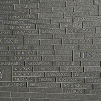 Memorial of Unity is seen decorated with names of Hungarian towns (many of them belonging to neighbouring countries since the Treaty of Trianon) engraved onto the walls on the national holiday celebrating the foundation of the Hungarian State in Budapest, Hungary  on Aug. 20, 2020. ATTILA VOLGYI