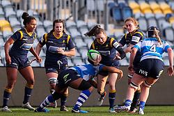 Abi Kershaw of Worcester Warriors Women is tackled - Mandatory by-line: Nick Browning/JMP - 09/01/2021 - RUGBY - Sixways Stadium - Worcester, England - Worcester Warriors Women v DMP Durham Sharks - Allianz Premier 15s