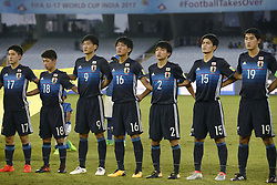 October 14, 2017 - Kolkata, West Bengal, India - Japan football team during the FIFA U 17 World Cup India 2017 Group E matches in Kolkata. Player of Japan and New Caledonia in action during the FIFA U 17 World Cup India 2017 Group F match on October 14, 2017 in Kolkata. (Credit Image: © Saikat Paul/Pacific Press via ZUMA Wire)