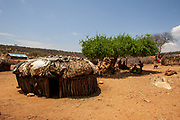 Village of the Samburu tribe. The Samburu are a Nilotic people of north-central Kenya. Samburu are semi-nomadic pastoralists who herd mainly cattle but also keep sheep, goats and camels.
