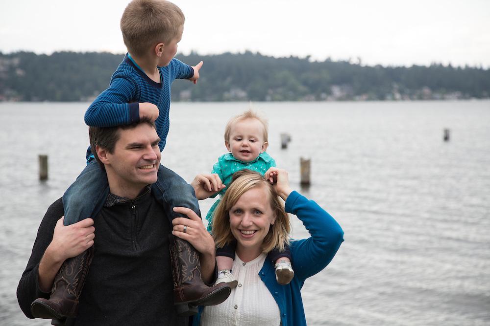 Family portraits of Jones Family.<br /> <br /> May 25, 2016. Matthews Beach, Seattle, WA.