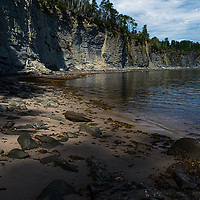 Afternoon light on a secluded cove on Canada' East coast.