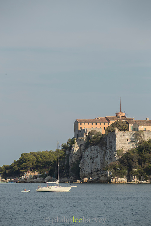 Fort Royal fortress view from seaside, le Sainte-Marguerite, Cannes