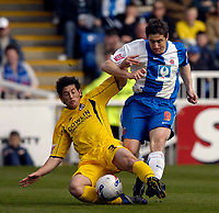 Photo: Jed Wee/Sportsbeat Images.<br /> Hartlepool United v Bristol Rovers. Coca Cola League 2. 05/05/2007.<br /> <br /> Bristol Rovers' Joe Jacobsen (L) tries to tackle Hartlepool's Joel Porter.