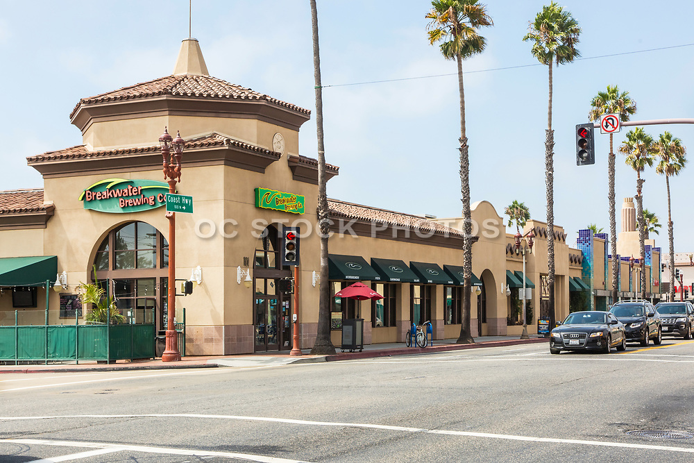 Breakwater Brewing Co. on the Corner of Pacific Coast Highway and Seagaze Drive Oceanside California