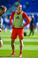 Wales midfielder Gareth Bale warms up ahead of the UEFA European 2020 Qualifier match between Wales and Slovakia at the Cardiff City Stadium, Cardiff, Wales on 24 March 2019.