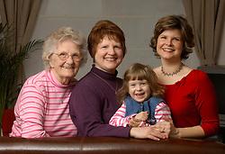 BRUSSELS, BELGIUM - MARCH-20-2006 - Four Generation Paulk Family Portrait. (PHOTO © JOCK FISTICK)