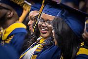 CSF-DC's Bryanna Johnson smiles during her NC A&T graduation on Saturday, May 14, 2016 (Tigermoth Creative/Chris English)