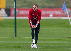 CARDIFF, WALES - Monday, October 5, 2020: Wales' Chris Gunter during a training session at the Vale Resort ahead of the International Friendly match against England. (Pic by David Rawcliffe/Propaganda)