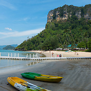 Two kayaks on Centara Grand beach near Ao Nang, Krabi province, Thailand