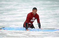 15 June 2013; Conor Murray, British & Irish Lions, during a surfing lesson on Bondi Beach. British & Irish Lions Tour 2013, Surfing at Bondi Beach, Bondi Beach, Sydney, NSW, Australia. Picture credit: Stephen McCarthy / SPORTSFILE