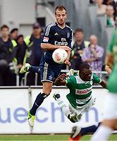 v.l. Rafael van der Vaart (HSV), Gerald Asamoah<br /> Fussball Bundesliga, SpVgg Greuther Fuerth - Hamburger SV<br /> Norway only