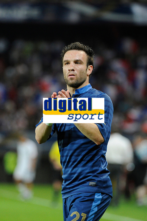 FOOTBALL - INTERNATIONAL FRIENDLY GAMES 2011/2012 - FRANCE v ICELAND - 27/05/2012 - PHOTO JEAN MARIE HERVIO / REGAMEDIA / DPPI - MATHIEU VALBUENA (FRA) AT THE END OF THE MATCH