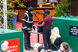 DAILY MAIL: A security operative searches visitors' bags at the Southbank Christmas Market adjacent to the London Eye in London. London, November 16 2018.