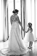 Bride and flower-girl