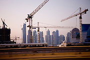 Dubai, United Arab Emirates (UAE). January 30th 2009..Dubai from the highway.