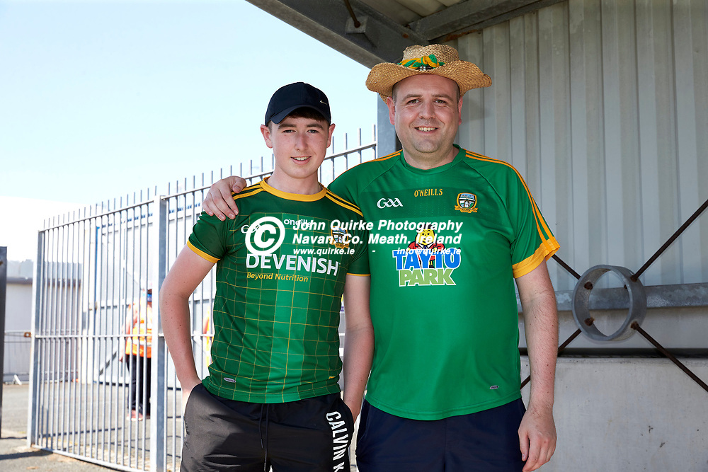17-07-21, Joe McDonagh Cup Relegation play-off at Parnell Park.<br /> Meath v Kildare<br /> Pictured at the game, L-R, David Malone & Phil Mooney (Dunboyne)<br /> Photo: David Mullen / www.quirke.ie ©John Quirke Photography, Proudstown Road Navan. Co. Meath. 046-9079044 / 087-2579454.<br /> ISO: 200; Shutter: 1/250; Aperture: 9;