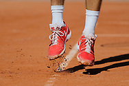 Tennis Shoes illstration while service during the Roland Garros French Tennis Open 2017, preview, on May 25, 2017, at the Roland Garros Stadium in Paris, France - Photo Stephane Allaman / ProSportsImages / DPPI