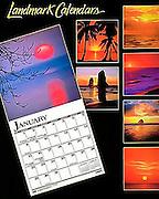 Photos used on Sunsets calendar published by Landmark Calendars