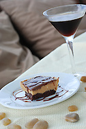 Espresso martini and chocolate pie aboard a family yacht in the Caribbean.