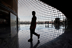 Interior of new National Theatre nicknamed The Egg in Beijing China