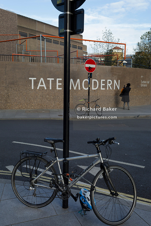 outside Tate Modern art gallery on the Southbank, on 13th November 2017, in London, England.