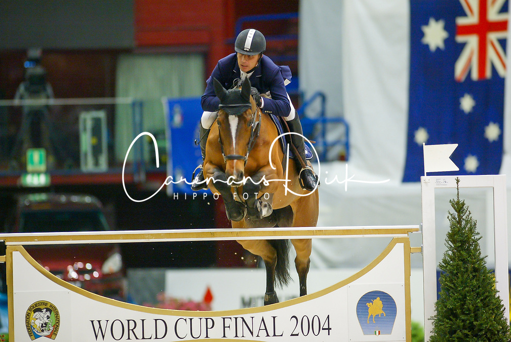 Barbeau Christophe, SUI, Qerly Chin<br /> World Cup Final Jumping - Milano 2004<br /> Photo © Dirk Caremans