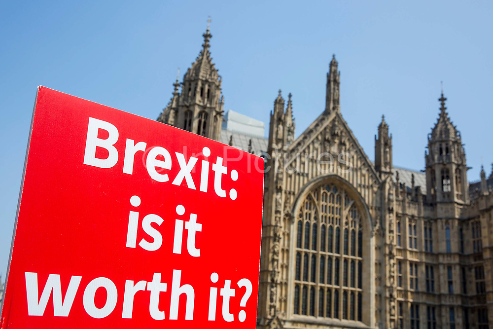 Stand of Defiance European Movement SODEM outside Houses of Parliament on the 28th June 2018 in London in the United Kingdom.