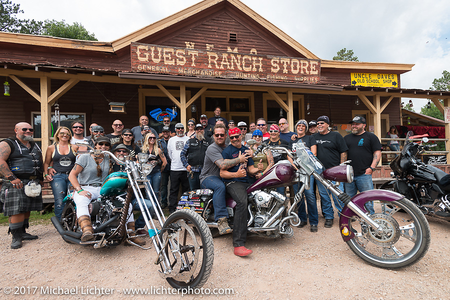 Stop at the Nemo Guest Ranch on Aidan's Ride to raise money for the Aiden Jack Seeger nonprofit foundation to help raise awareness and find a cure for ALD (Adrenoleukodystrophy) during the annual Sturgis Black Hills Motorcycle Rally. Nemo, SD, USA. Tuesday August 8, 2017. Photography ©2017 Michael Lichter.