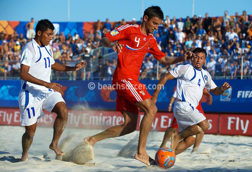 RAVENNA, ITALY - SEPTEMBER 09: FIFA Beach Soccer World Cup at the Stadium del Mare on September 9, 2011 in Ravenna, Italy. (Photo by Manuel Queimadelos)