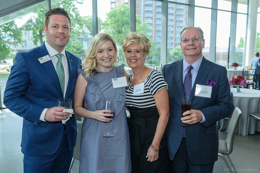 Aaron Brittany and Angela Glenn Metten at the 10-year anniversary celebration of Republic Bank's Private Banking and Business Banking divisions Wednesday, May 17, 2017, at the Speed Art Museum in Louisville, Ky. (Photo by Brian Bohannon)