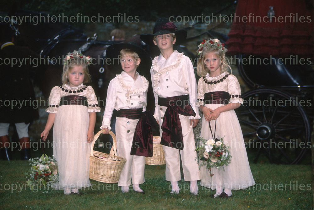 Prince Harry seen as a pageboy at the wedding of his uncle Charles Spencer to Victoria Lockwood at Althrop in 1989. Photograph by Jayne Fincher