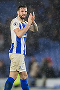 Shane Duffy (Brighton) thanking the Brighton & Hove Albion FC supporters in the North Stand following the Premier League match between Brighton and Hove Albion and Burnley at the American Express Community Stadium, Brighton and Hove, England on 9 February 2019.