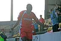 Photo: Pete Lorence.<br />Notts County v Swindon Town. Coca Cola League 2. 23/09/2006.<br />Swindon's Fola Onibuje celebrates scoring the first goal of the match.