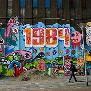 Nederland Rotterdam 3 september 2007 .De pauluskerk is omgetovert in een kunstwerk van graffiti . De opvang voor verslaafden en daklozen zal binnenkort gesloopt worden...Foto David Rozing