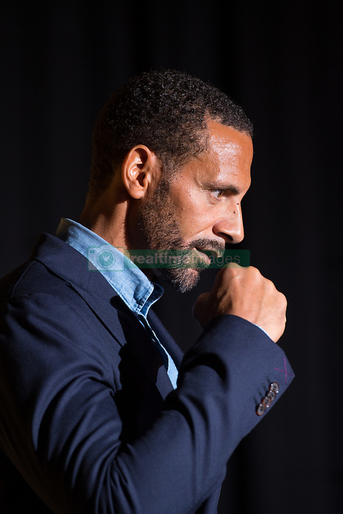 Rio Ferdinand poses for photographers during the press conference at York Hall, London.
