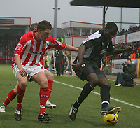 Photo: Mark Stephenson.<br />Cheltenham Town v Bristol City. Coca Cola League 1. 23/12/2006.<br />Bristol City player on the ball