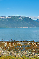 Haines Beach and Harbor Panorama. Image 5 of 11 images taken with a Nikon D300 camera and 18-200 mm VR lens (ISO 400, 34 mm, f/11, 1/500 sec). Raw images processed with Capture One Pro. Composite panorama created using AutoPano Giga.