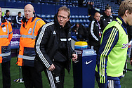 WBA caretaker manager Keith Downing arrives pre-match for his 1st match in charge. Barclays Premier league, West Bromwich Albion v Hull city at the Hawthorns in West Bromwich, England on Saturday 21st Dec 2013. pic by Andrew Orchard, Andrew Orchard sports photography.