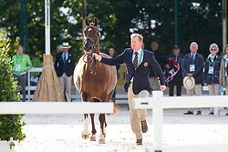 Gareth Hughes, (GBR), DV Stenkjers Nadonna - Horse Inspection Dressage - Alltech FEI World Equestrian Games™ 2014 - Normandy, France.<br /> © Hippo Foto Team - Leanjo de Koster<br /> 25/06/14